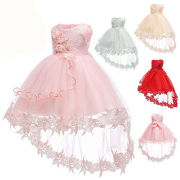 $enCountryForm.capitalKeyWord Australia - Flower Baby Girls Dress Baptism Dresses For Girls 1st Year Birthday Lace Trailing Party Wedding Christening Baby Infant Clothing MX190719