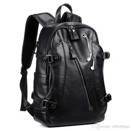 Wholesale Leather Backpack inch Business PU Soft Leather Backpack for Men School College Bookbag
