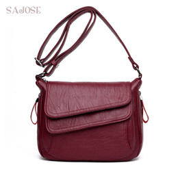 ladies messenger handbags Australia - Women Leather High Quality Simple Handbag Red Shoulder Bag Sac A Main Femme Luxury Designer Lady Messenger Bags Drop Shipping SH190920