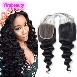 Indian Products Australia - Indian Virgin Hair 4X4 Lace Closure With Baby Hair Loose Deep Natural Color Deep Loose Lace Closure Hair Products