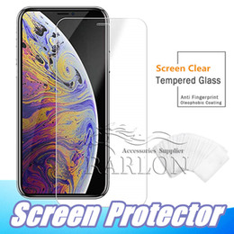 Wholesale Per iPhone XR XS MAX Proteggi schermo in vetro temperato per Galaxy J3 J7 A9 A8 A80 2019 Iphone X 8 7 plus 6s Edition Film 2.5D 9H Anti-frantumazione