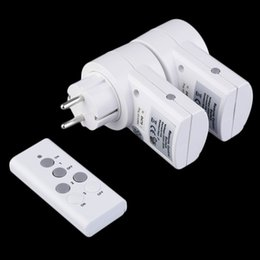 $enCountryForm.capitalKeyWord Australia - High Quality Eu Plug 2pcs Socket pack 230v-50hz 10a Remote Control Wireless Power Outlets Light Switch Socket Dc 12v 23a J190517