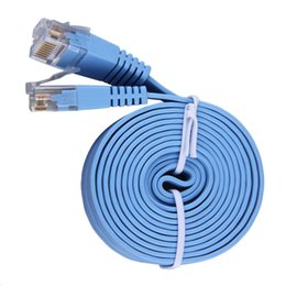 Wholesale New M M Cat5e RJ45 P8C Super Slim Flat LAN Network Ethernet Patch Cable In stock