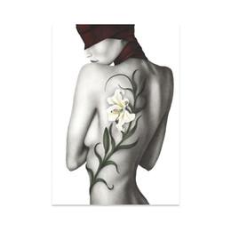 $enCountryForm.capitalKeyWord UK - Simple Black and White Portrait Art Hand-painted Body Beauty Rose Decorative Painting Painting Frameless Painting Core Wholesale