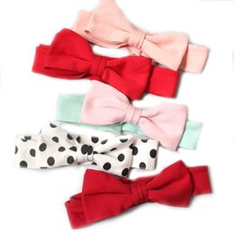 babies cotton hair bands NZ - Hair Accessories Cotton Childrens Oversized Bow Hair Band Baby Styling Head Band Single Adjustable Elastic Headdress 2019 Hot Selling