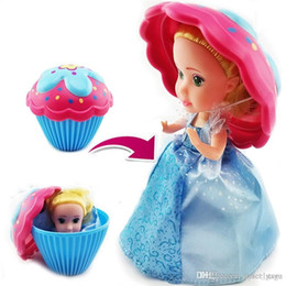 Girls Cupcake Australia - Surprise Cupcake Princess Doll Deformable Dolls Girl Beautiful Cute Toy Birthday Present Mini Cake Doll Toys for Kids Boneca