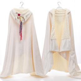 Warm thick blanket online shopping - Unicorn Blankets unicorn hooded blanket Double flannel PV velvet Unicorn shawl Throw cape thick warm hooded blanket cm GGA1428