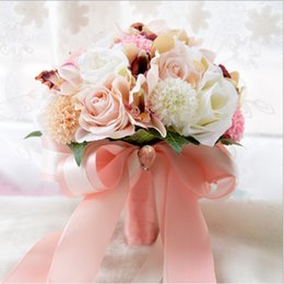 $enCountryForm.capitalKeyWord Australia - Colorful Artificial Flower Bridal Bouquet Bridesmaids Hand Bouquets Cheap Sale Church Home Decoration Wedding Flowers