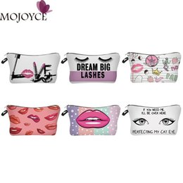 Wholesale Pillow Packs Australia - Lip Eyes Print Travel Cosmetic Bag for Women Toiletry Organizer Bag Storage Pack Make Up Pouch Feminina Cosmetic Packs Bath Bags