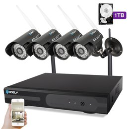 Dvr Channel Cameras Australia - Hodely 8-Channel 1080N H Indoor Outdoor DVR Kit with 4pcs 720P 1 4 Color CMOS Camera Black 1TB HDD