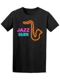 jazz shirts NZ - Neon Sign Jazz Club Men'S Tee -Image By Retro O Neck Tee Shirt