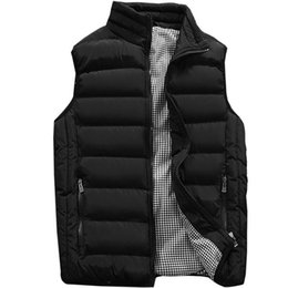 $enCountryForm.capitalKeyWord Australia - Warm Sleeveless Jacket Vest Men Winter Autumn Waistcoat Men's Vest Casual Stand Collar Zipper Up Coats Mens Plus Size 5XL