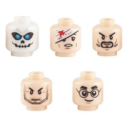 Military Figures Australia - WW2 Military Army Soldier Figures Face Heads Building Blocks City Halloween Accessory Minifigs Skull Parts Brick Children Toys