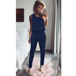 $enCountryForm.capitalKeyWord Australia - Women Jumpsuit Black Summer Rompers Solid Ladies Elegant Sleeveless Long Casual Overalls Playsuit