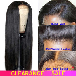 brazilian hair 24 Canada - Straight Lace Front Human Hair Wigs For Black Women Straight Lace Front Wig 12-24 Remy Brazilian Wig 150 Density Lace Wig