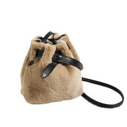 768dd1ecf3dc Plush Winter Warm Shoulder Slung Bucket Bag Crossbody Messenger Fashion  Bags For Girls Women Ladies Casual Purse Handbags Bag