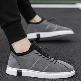 $enCountryForm.capitalKeyWord Australia - Man Casual Loafers Spring Autumn Walking Dress Shoes Black Mens Casual Flats Footwear Rubber Bottom Fashionable Sneakers For Men