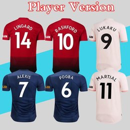 5a025a602 Player version Man Soccer Jersey 2018 2019 Utd Football Shirt POGBA  RASHFORD MARTIAL More 10pcs Free DHL Shipping