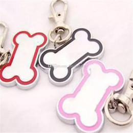 Necklaces Pendants Australia - Pet Tags Stainless Steel Bone-Shaped Necklace Pendant Charm Pet Carving Dog ID Tag Cat Hanging Ornament Pet Accessory Dog Pet Supply Product