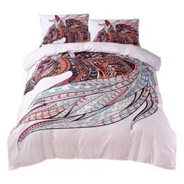 Horse Bedding UK - Horse Bedding Set Hd Print Tribal Horses Duvet Cover Set Twin Full Queen King 3Pcs Bedding