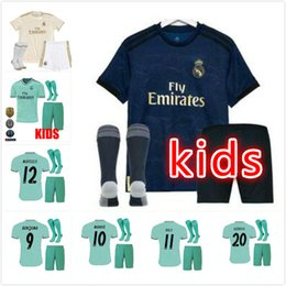 82a82b5c558 Madrid Jersey 16 UK - kids kit +Socks 2019 Real Madrid MARIAN home Away  soccer