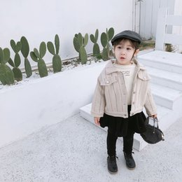 $enCountryForm.capitalKeyWord NZ - 2019 New Arrival Winter Korean style cotton thickened and warm striped fashion all-match Short Jacket for cool sweet baby girls