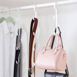 $enCountryForm.capitalKeyWord Australia - wholesale Sturdy Plastic Tie Belt Scarf Storage Holders Racks Wardrobe Space Saver Belt Bag Hanger Coat Hook Bathroom