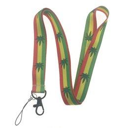 neck card hang rope 2019 - 10Pcs New Bob Marley lanyard For keys ID Card Pass Gym USB badge holder DIY Hang Rope Lariat Tags Neck Strap Lanyards Cu