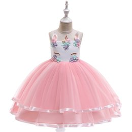 $enCountryForm.capitalKeyWord Australia - Dress for the First Communion for Girls Dress with Floral Pattern for Girls Baby Prom Dress Children's Costume Elegant Ball Gown Vestido Eve