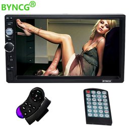 Viewing mp4 online shopping - BYNCG din car radio quot HD Touch Screen Player MP5 SD FM MP4 USB AUX Bluetooth Car Audio For Rear View Camera Remote Control
