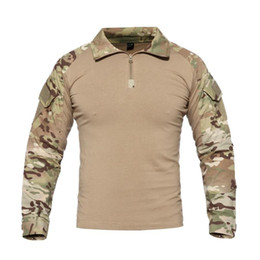 swat tactical shirts Australia - Tactical T shirt SWAT Soldiers Combat T-Shirt Long Sleeve Camouflage Shirts Paintball T Shirts