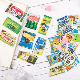 cartoon diary Australia - Japanese cute snack bag hand-painted illustration stickers DIY scrapbooking album diary happy planner gift decoration stickers