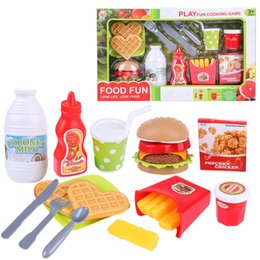 pretend toys Australia - 13Pcs set Pretend Play Hamburger Fast Food Playset Educational Toys for Children Birthday Gift