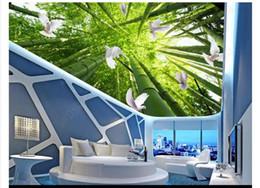 $enCountryForm.capitalKeyWord Australia - Customized 3D Zenith Photo Ceiling Background Mural Tropical Rainforest Sky Cloud Dove Bedroom Ceiling Zenith Mural Wallpaper