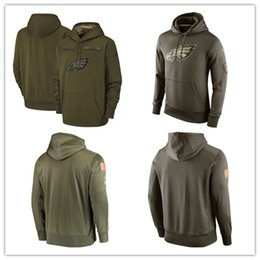77d8e7bc9 Men s Philadelphia men Eagles jersey fashion movement Olive Salute to Service  Pullover football Hoodie 2018-2019 NEW