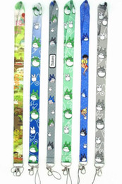 totoro mobile UK - Classic cartoon Boys Girls Totoro Melody Neck Lanyard for Key chain ID Cards Holders lanyard Mobile Phone Straps