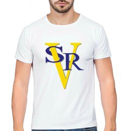 $enCountryForm.capitalKeyWord Australia - SRV t shirt Stevie Ray Vaughan star short sleeve tops Guitar player fadeless tees Unisex white colorfast clothing Pure color modal tshirt