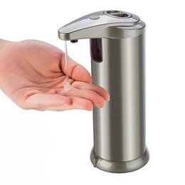 280ml Automatic Sensor Soap Dispenser Liquid Soap Dispensers Stainless Steel Sensor Dispenser Portable Motion Activated Dispenser CCA12218 on Sale