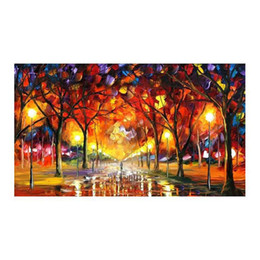 """Restaurant Decorative Painting Australia - Romantic walking in the rain forest european-style hand-painted oil painting murals restaurant sitting room sofa decorative painting 30""""x40"""""""