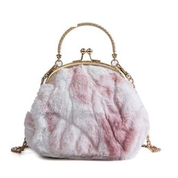 Shell Hand Bag Australia - Personality Plush Shell Hand Bags Women New Fashion High Quality Casual Wild Temperament Shoulder Messenger Bag