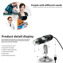 microscope magnifications Australia - 1000X 8 LED USB Magnification Endoscope Digital Microscope Mini Camera with OTG Adapter and Metal Stand
