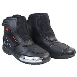 Moto Shoes UK - Motorcycle Boots Biker Motorbike Motorboats Moto Botas Riding Boot Motorcycle Men Shoes Shoe Racing Boots