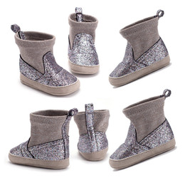 Glitter Bling Baby Australia - Pudcoco Brand New Baby Girl Glitter Sequin Bling Soft Sole Crib Shoes Princess Boots 0-18 Months