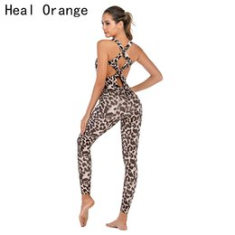 $enCountryForm.capitalKeyWord Australia - Leopard Fitness Jumpsuit Gym Outfit Women Camo Yoga Set Sports Wear For Women Gym Fitness Clothing Booty Sport Suit Femme