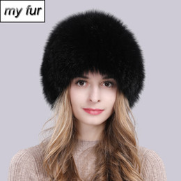 $enCountryForm.capitalKeyWord Australia - 2019 Hot Sale 100% Natural Real Fox Fur Women Winter Hat Knitted Real Fox Fur Bomber Hats Fashion Warm Bomber Cap