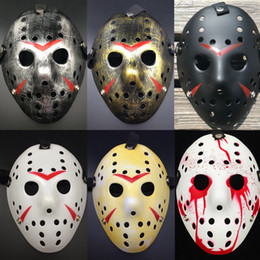 hockey masks Australia - Fashion Horrific Jason Voorhees Friday the 13th Horror Movie Hockey Mask Scary Halloween Mask