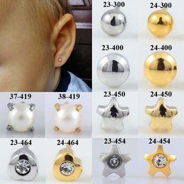 $enCountryForm.capitalKeyWord Australia - BOG- Pair 20g Surgical Steel Full Moon Star Gem Heart Pearl Ear Stud Earrings Studs Tragus Cartilage Fashion Piercing Jewelry