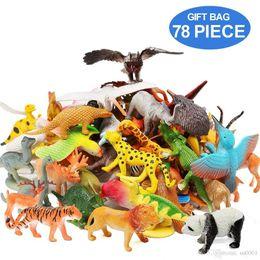 $enCountryForm.capitalKeyWord Australia - Animal Figures Set of 78 Realistic Assorted 32 Mini Jungle Animals & 12 Dinosaurs & 12 Birds & 22 Accessories Party Favors Toys PlaySet For