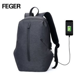 $enCountryForm.capitalKeyWord Australia - Feger Usb Charge Waterproof Anti Theft Backpack Men 15inch Laptop Backpacks Fashion Travel School Bags Male School Bag Y19061102