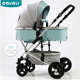 Stroller Light Folding Australia - Baby stroller high landscape light can sit reclining folding two-way baby newborn stroller
